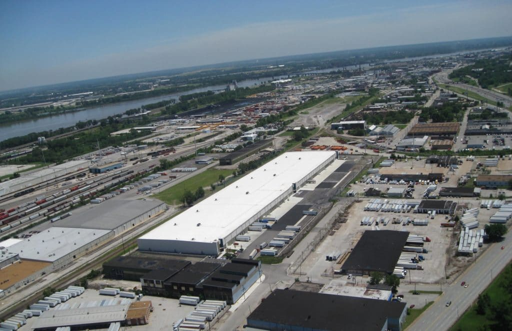 North Broadway Distribution Center Aerial view